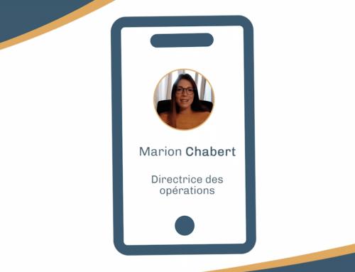 Interview de Marion Chabert, Directrice des opérations